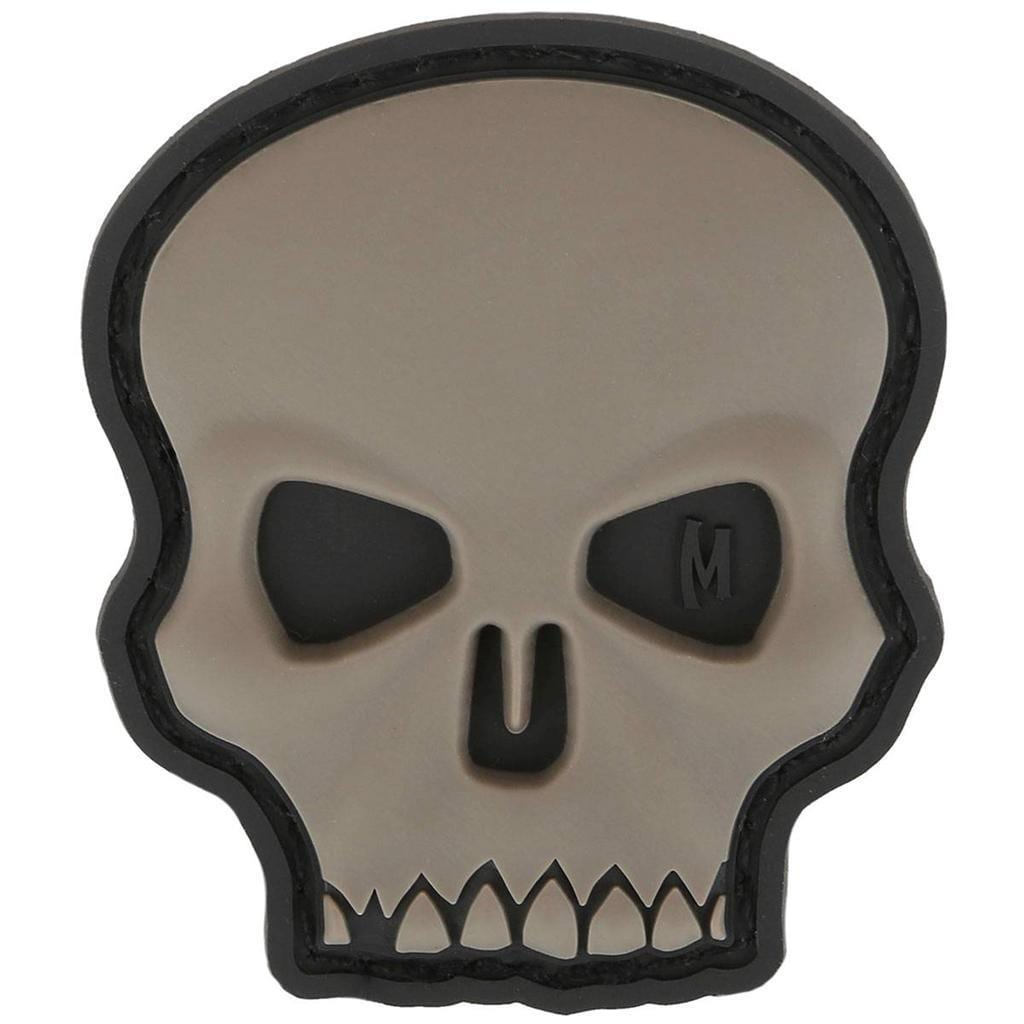 Maxpedition Hi Relief Skull Hook Fastener Rubber PVC Patch Swat Grey